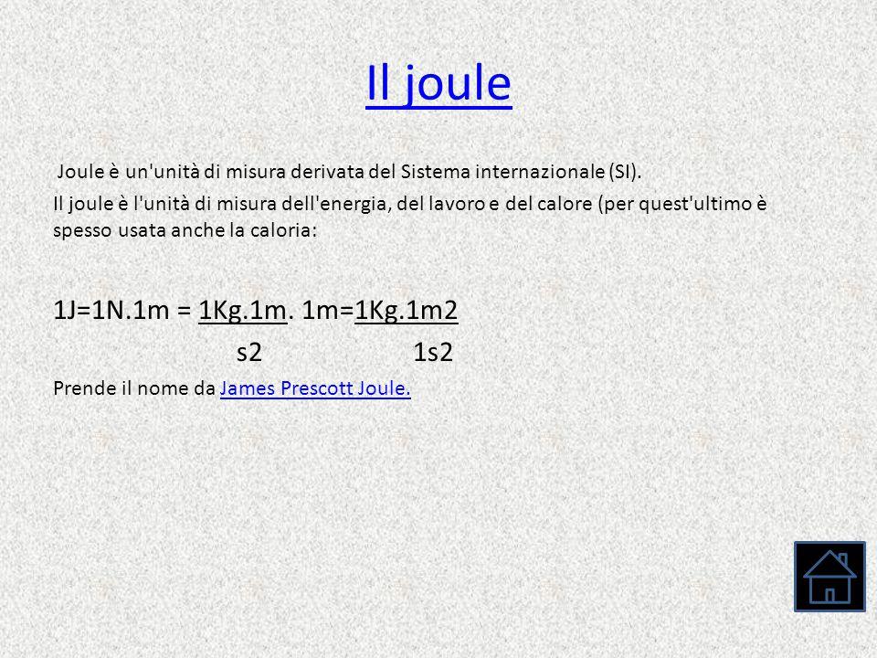 Il joule Joule è un'unità di misura derivata del Sistema internazionale (SI). Il joule è l'unità di misura dell'energia, del lavoro e del calore (per