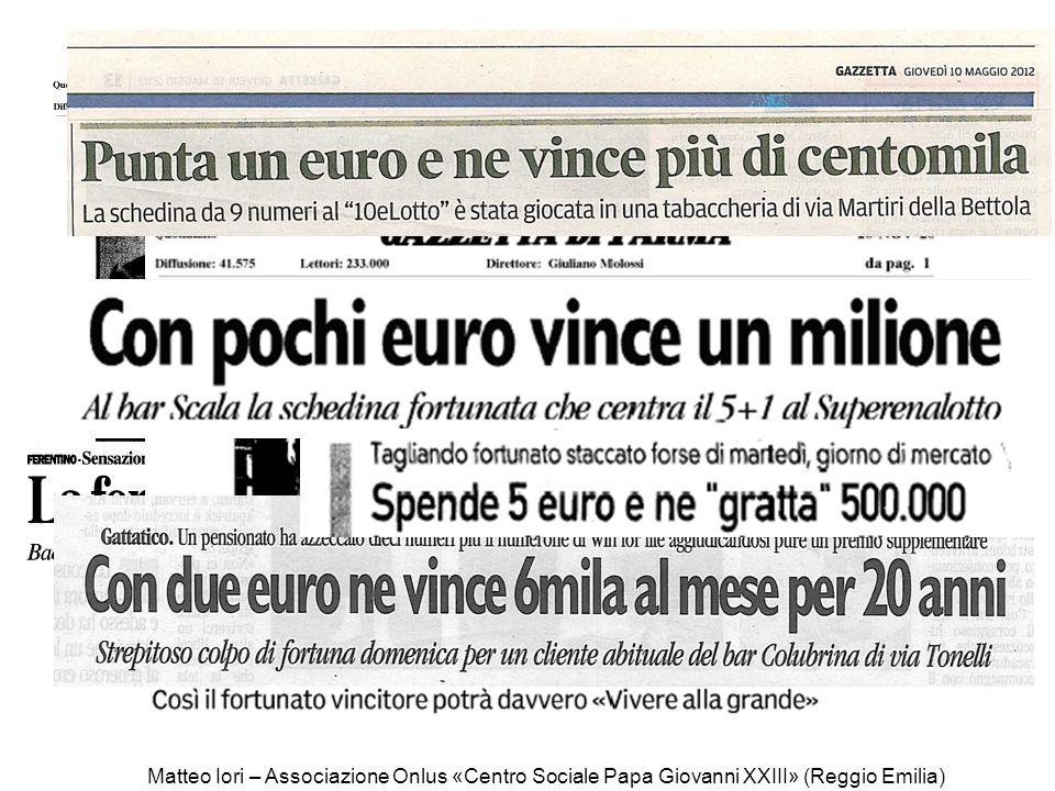 Matteo Iori – Associazione Onlus «Centro Sociale Papa Giovanni XXIII» (Reggio Emilia)