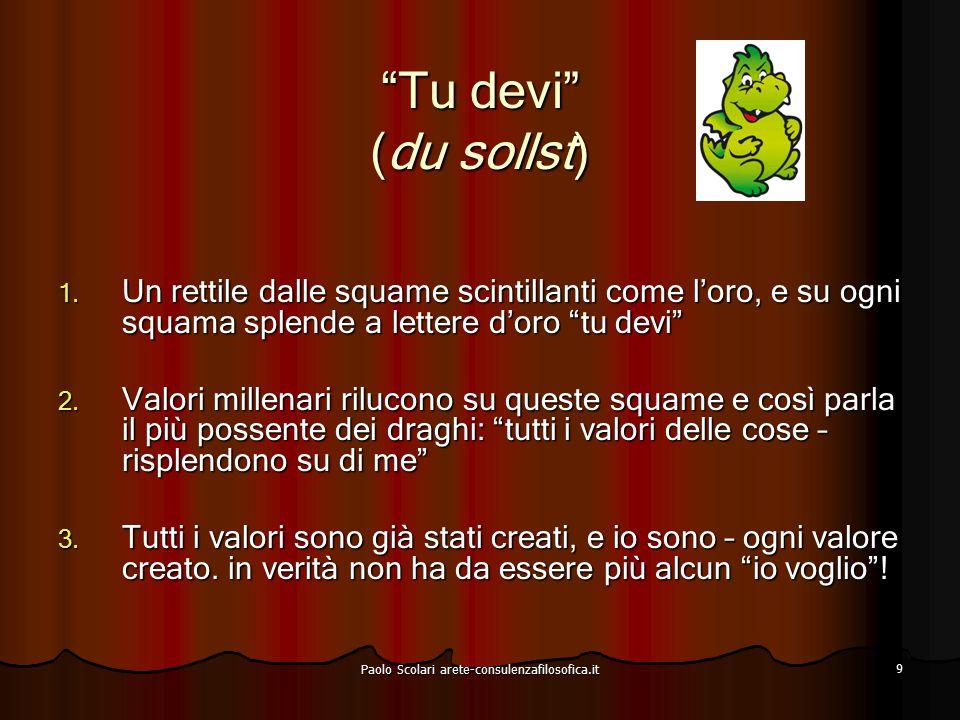 Io voglio (ich will) Lo spirito del LEONE dice: Io voglio Paolo Scolari arete-consulenzafilosofica.it 10
