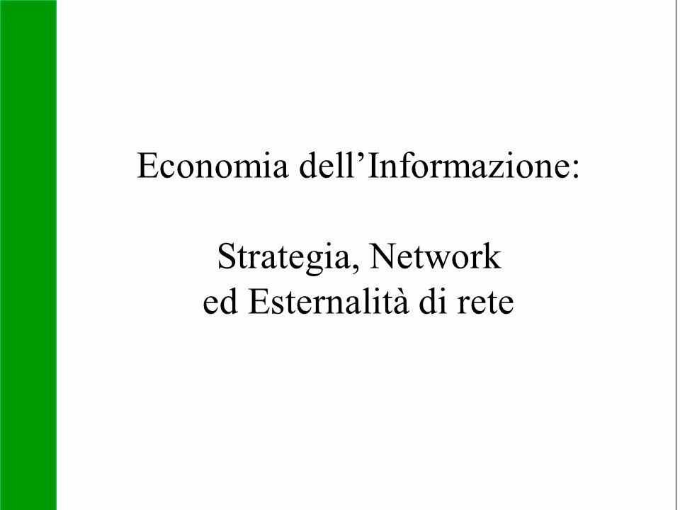 Copyright SDA Bocconi 2005 Competing Technologies, Network Externalities …n 1 Economia dell'Informazione: Strategia, Network ed Esternalità di rete