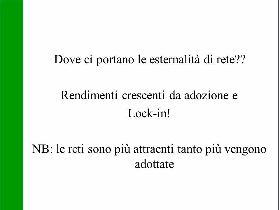 Copyright SDA Bocconi 2005 Competing Technologies, Network Externalities …n 23 Dove ci portano le esternalità di rete?? Rendimenti crescenti da adozio