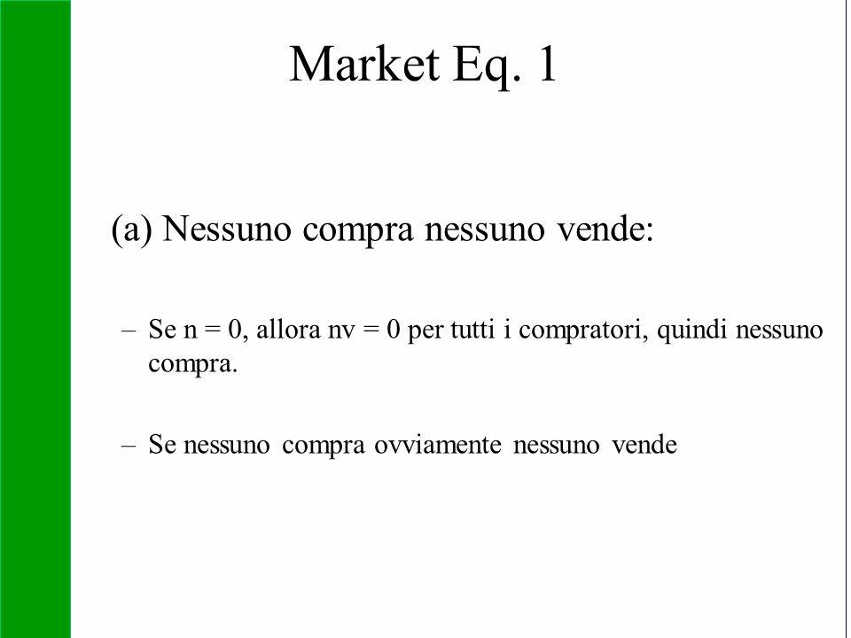 Copyright SDA Bocconi 2005 Competing Technologies, Network Externalities …n 35 (a) Nessuno compra nessuno vende: –Se n = 0, allora nv = 0 per tutti i