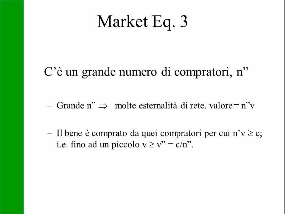 "Copyright SDA Bocconi 2005 Competing Technologies, Network Externalities …n 39 Market Eq. 3 C'è un grande numero di compratori, n"" –Grande n""  molte"