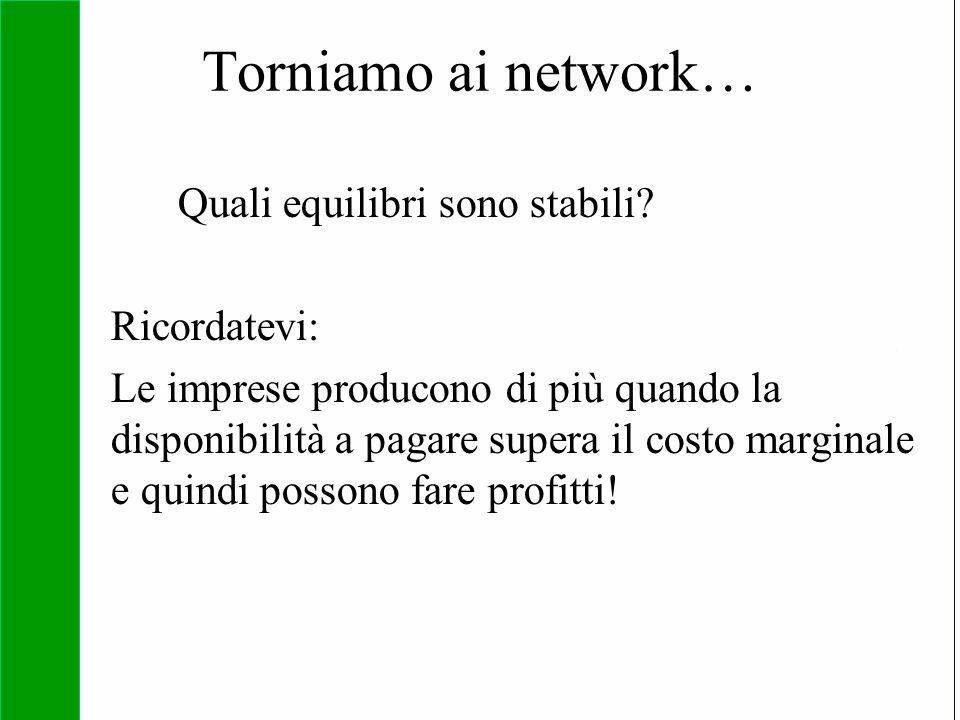Copyright SDA Bocconi 2005 Competing Technologies, Network Externalities …n 43 Quali equilibri sono stabili? Ricordatevi: Le imprese producono di più