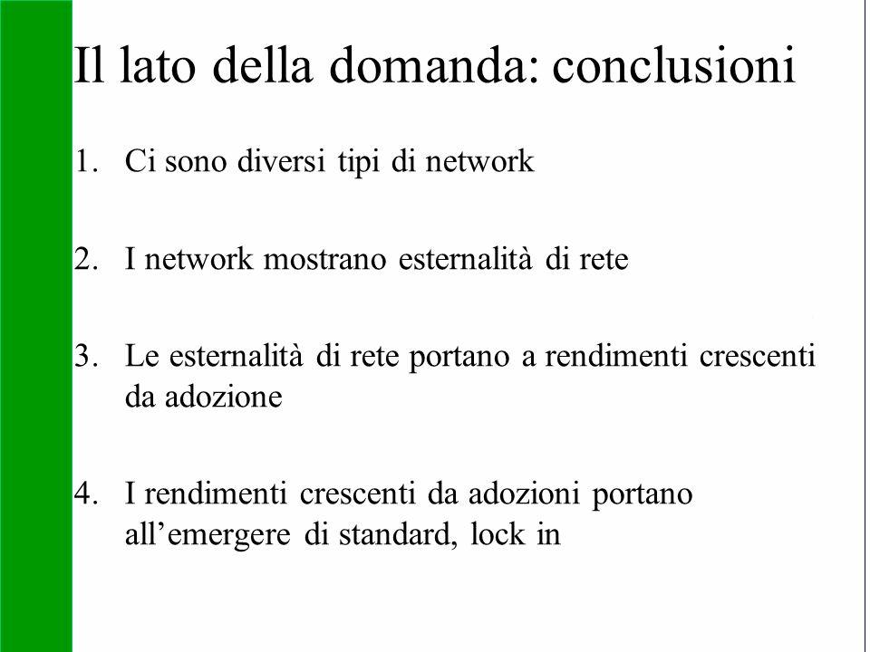 Copyright SDA Bocconi 2005 Competing Technologies, Network Externalities …n 46 Il lato della domanda: conclusioni 1.Ci sono diversi tipi di network 2.