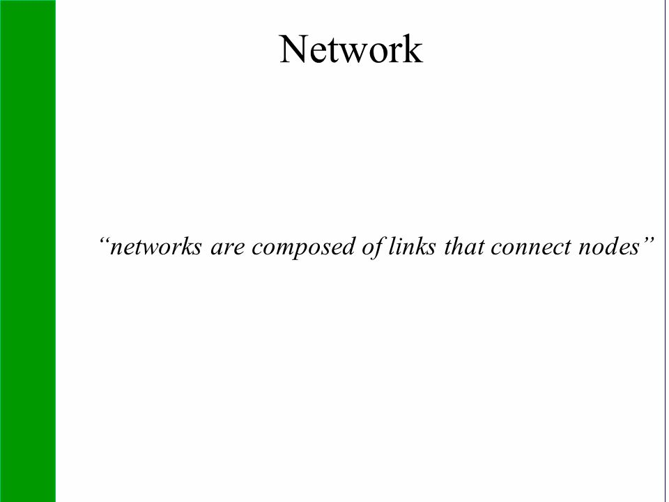 "Copyright SDA Bocconi 2005 Competing Technologies, Network Externalities …n 7 Network ""networks are composed of links that connect nodes"""