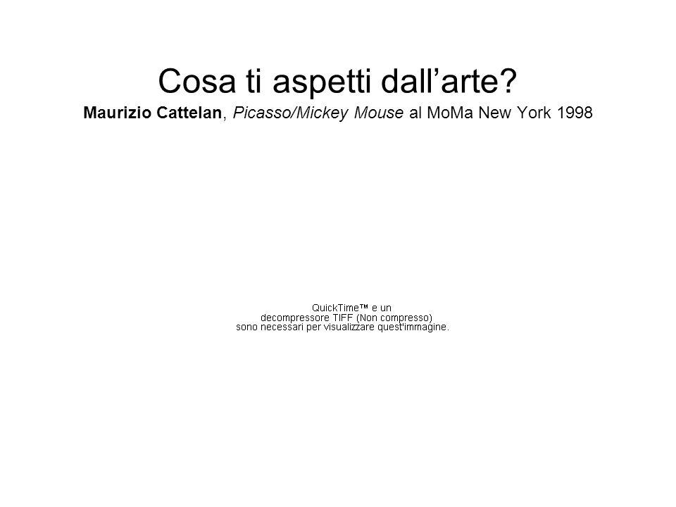 Cosa ti aspetti dall'arte? Maurizio Cattelan, Picasso/Mickey Mouse al MoMa New York 1998