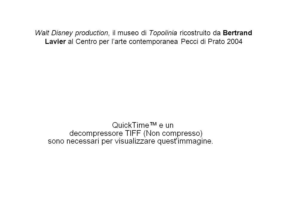 Walt Disney production, il museo di Topolinia ricostruito da Bertrand Lavier al Centro per l'arte contemporanea Pecci di Prato 2004