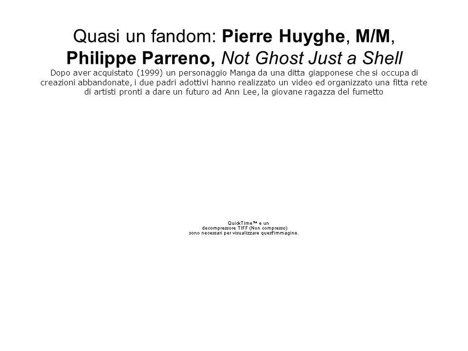 Quasi un fandom: Pierre Huyghe, M/M, Philippe Parreno, Not Ghost Just a Shell Dopo aver acquistato (1999) un personaggio Manga da una ditta giapponese