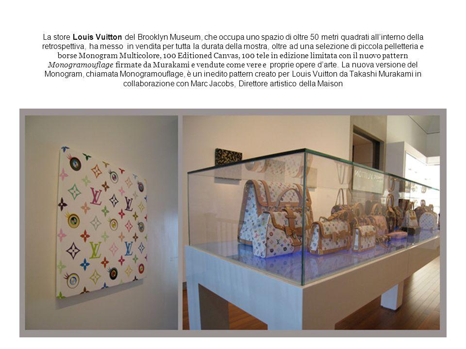 La store Louis Vuitton del Brooklyn Museum, che occupa uno spazio di oltre 50 metri quadrati all'interno della retrospettiva, ha messo in vendita per
