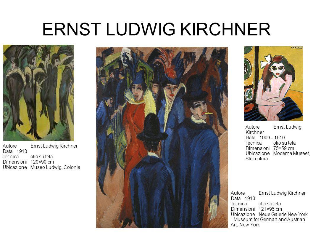 ERNST LUDWIG KIRCHNER AutoreErnst Ludwig Kirchner Data1913 Tecnicaolio su tela Dimensioni120×90 cm UbicazioneMuseo Ludwig, Colonia AutoreErnst Ludwig