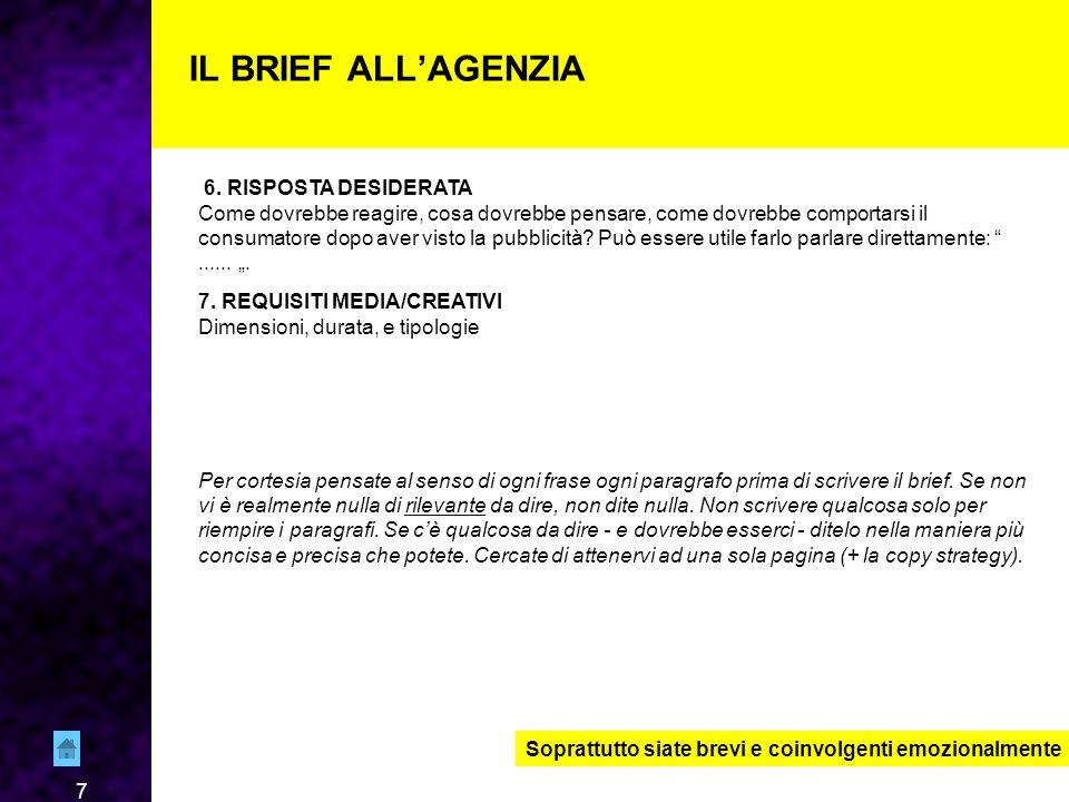 7 IL BRIEF ALL'AGENZIA 6.