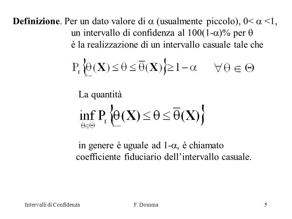 Intervalli di ConfidenzaF. Domma5 Definizione.