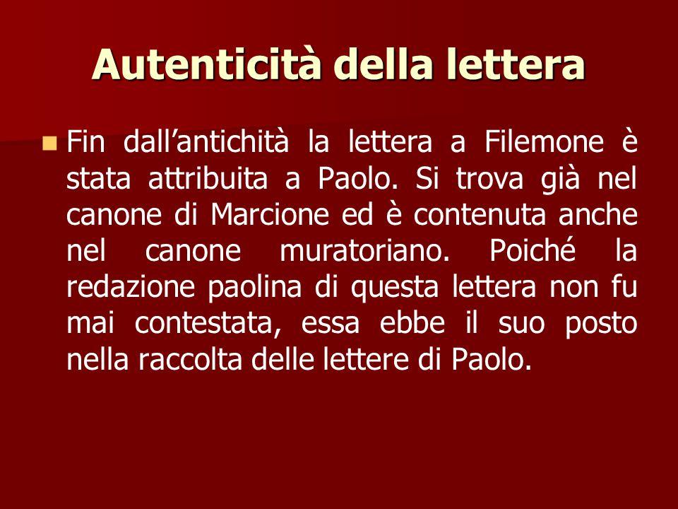 L'occasione della lettera Paolo si era preso cura di lui, l'aveva convertito alla fede cristiana (v. 10), si era guadagnato le sue simpatie e aveva av