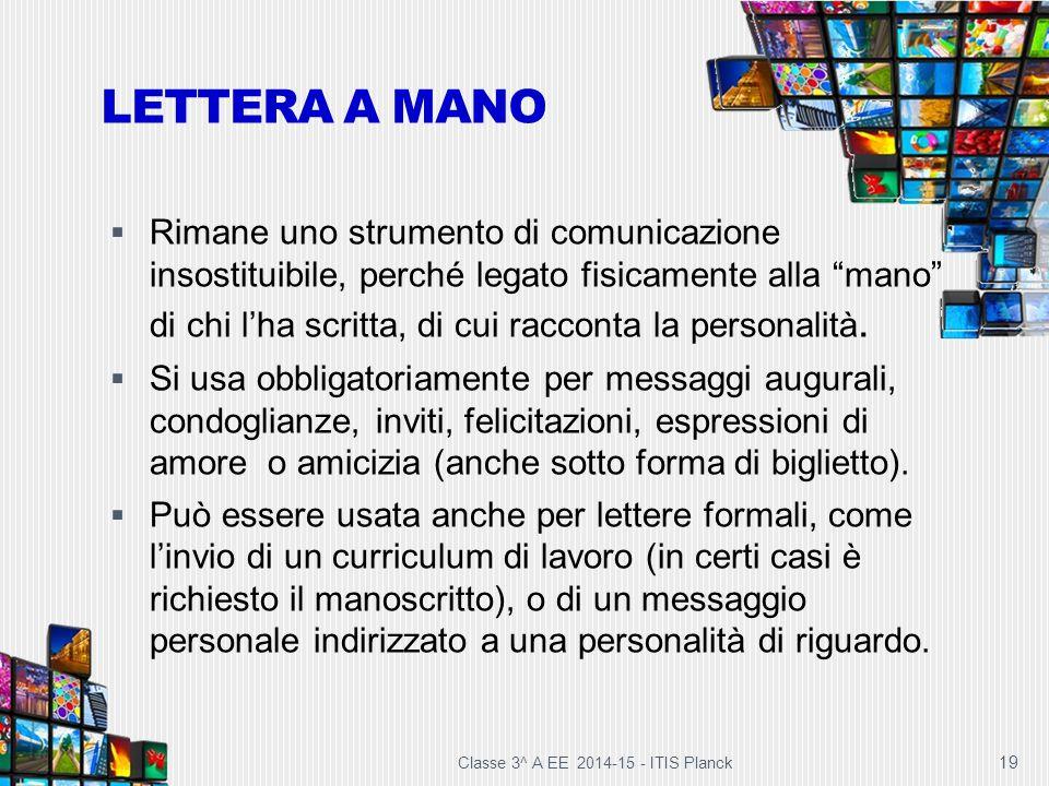 """19 LETTERA A MANO  Rimane uno strumento di comunicazione insostituibile, perché legato fisicamente alla """"mano"""" di chi l'ha scritta, di cui racconta l"""