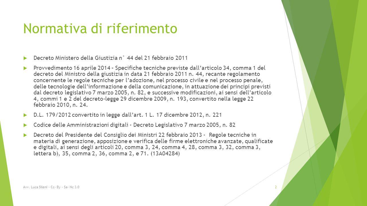 Avv. Luca Sileni - Cc- By - Sa- Nc 3.0 33