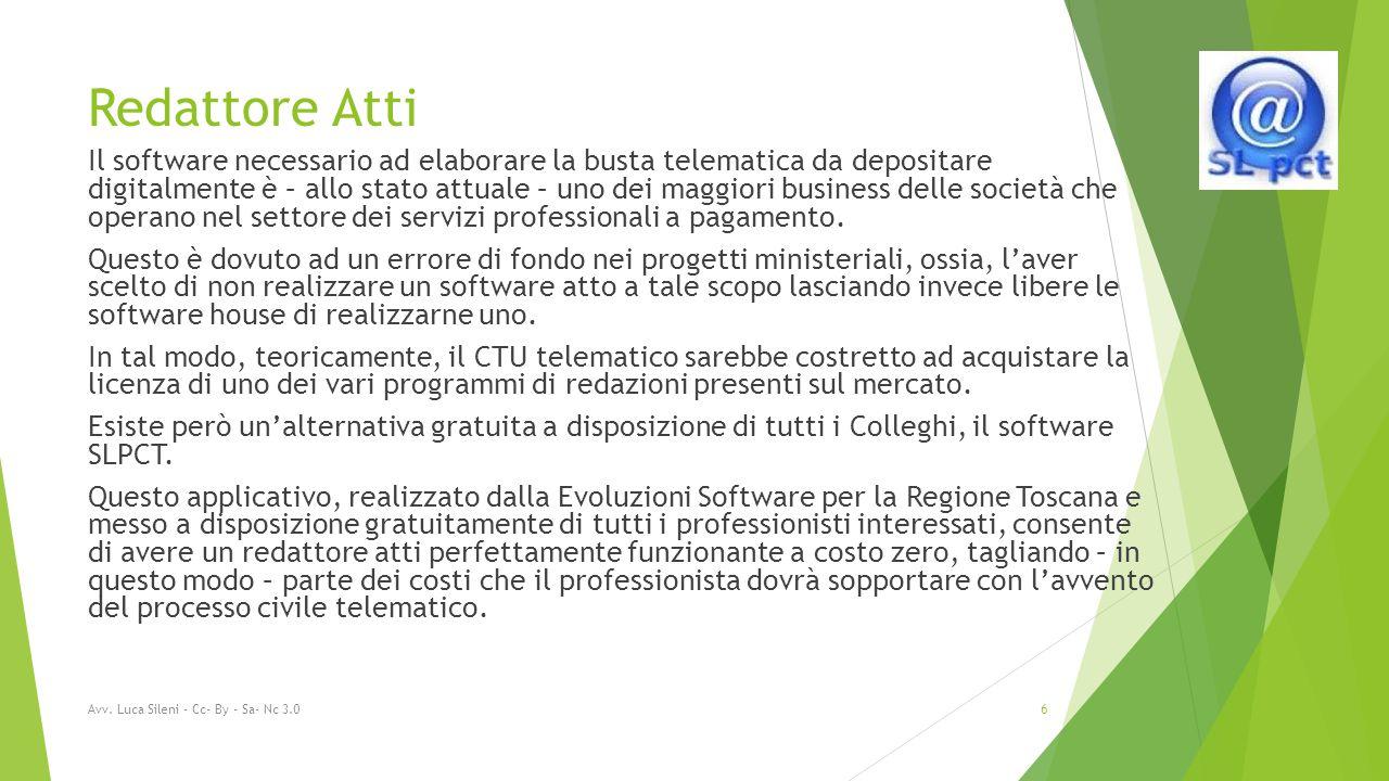 Redattore Atti Il software necessario ad elaborare la busta telematica da depositare digitalmente è – allo stato attuale – uno dei maggiori business delle società che operano nel settore dei servizi professionali a pagamento.