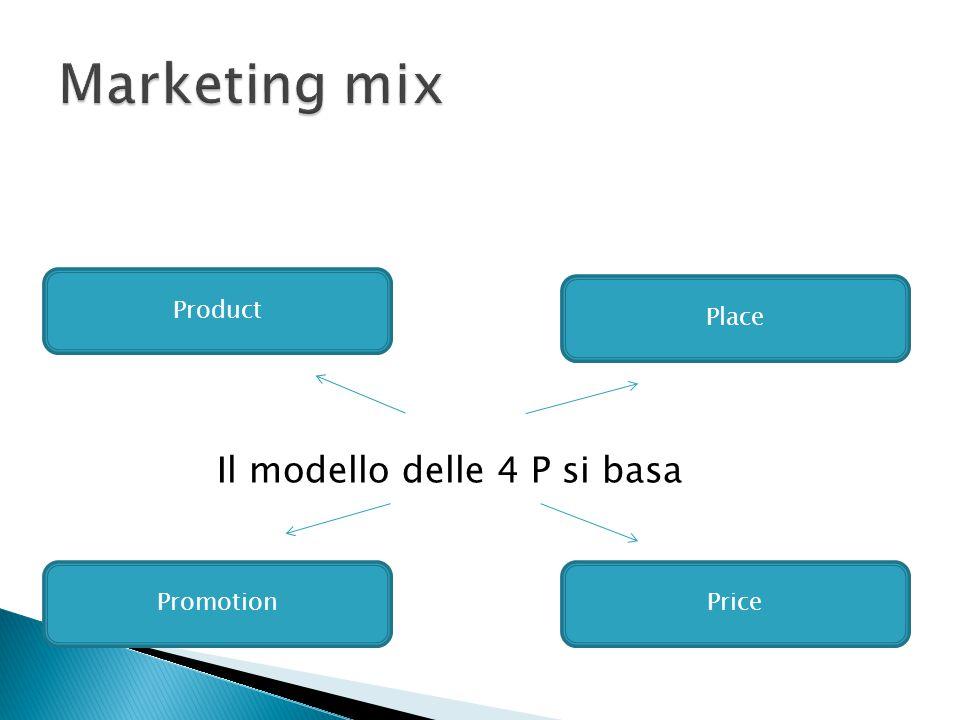 Il modello delle 4 P si basa Product Place PromotionPrice