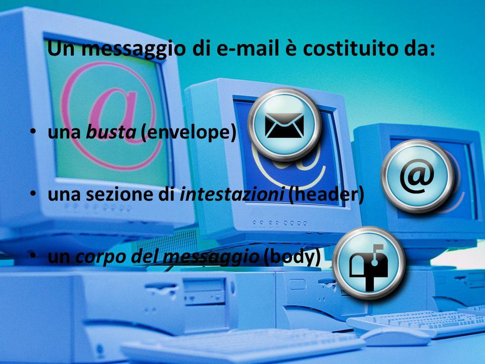 Per busta si intendono le informazioni a corredo del messaggio che vengono scambiate tra server attraverso il protocollo SMTP, principalmente gli indirizzi e-mail del mittente e dei destinatari.