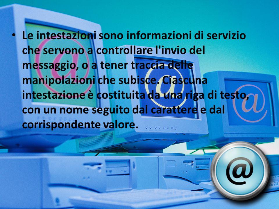 Il corpo del messaggio è composto dal contenuto informativo che il mittente vuol comunicare ai destinatari.
