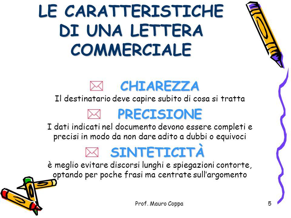 Prof. Mauro Coppa4 IMPORTANTE! Poichè la corrispondenza commerciale documenta l'attività dell'albergo, viene sempre redatta in due copie: L'originaled