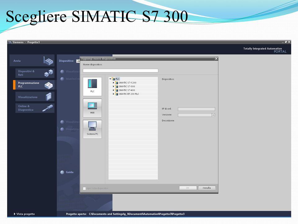 Scegliere SIMATIC S7 300