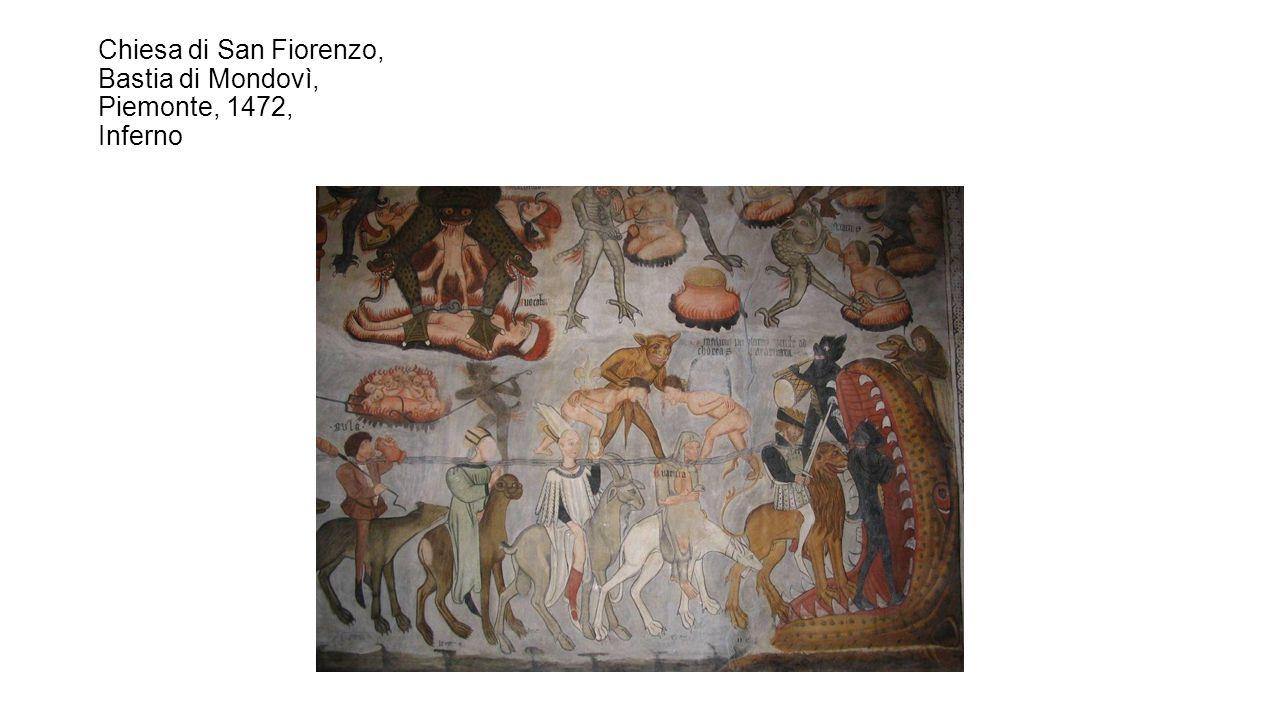 Chiesa di San Fiorenzo, Bastia di Mondovì, Piemonte, 1472, Inferno