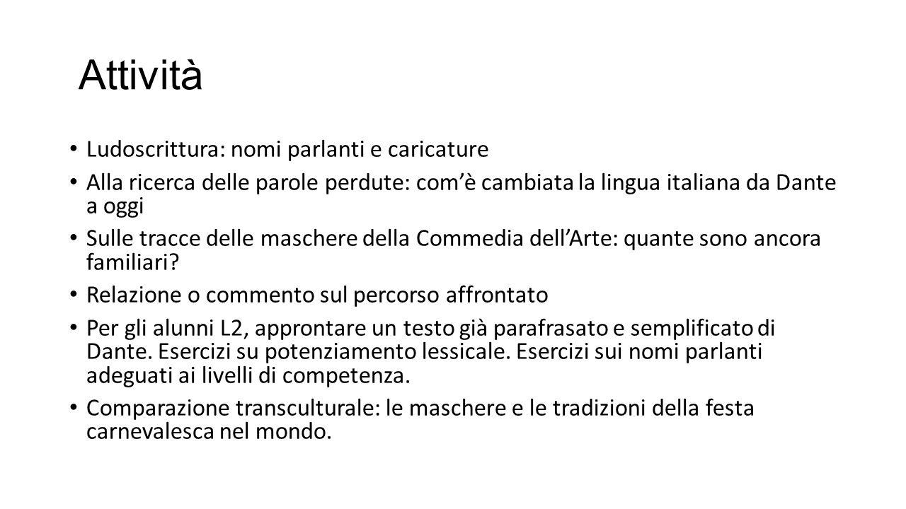 Bibliografia minima di riferimento Dante Alighieri, La divina Commedia, Inferno, a c.