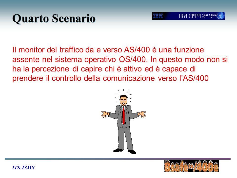 ITS-ISMS Quarto Scenario Il monitor del traffico da e verso AS/400 è una funzione assente nel sistema operativo OS/400. In questo modo non si ha la pe