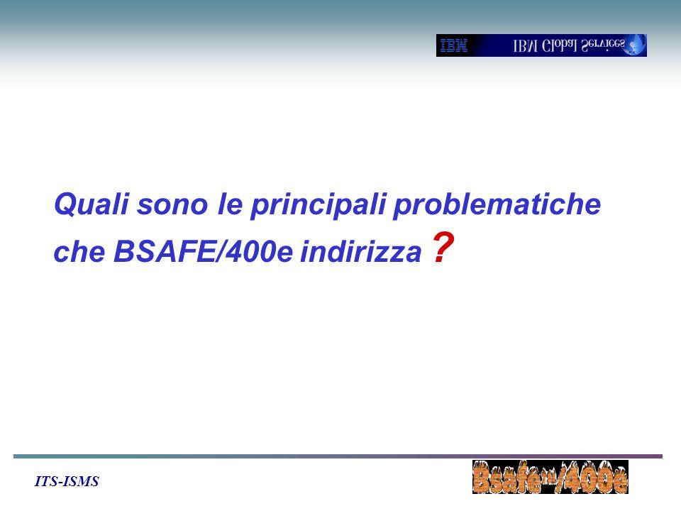 ITS-ISMS Quali sono le principali problematiche che BSAFE/400e indirizza ?