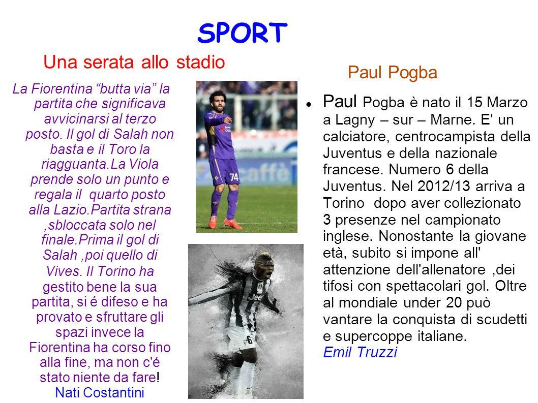 Una serata allo stadio Paul Pogba Paul Pogba è nato il 15 Marzo a Lagny – sur – Marne. E' un calciatore, centrocampista della Juventus e della naziona