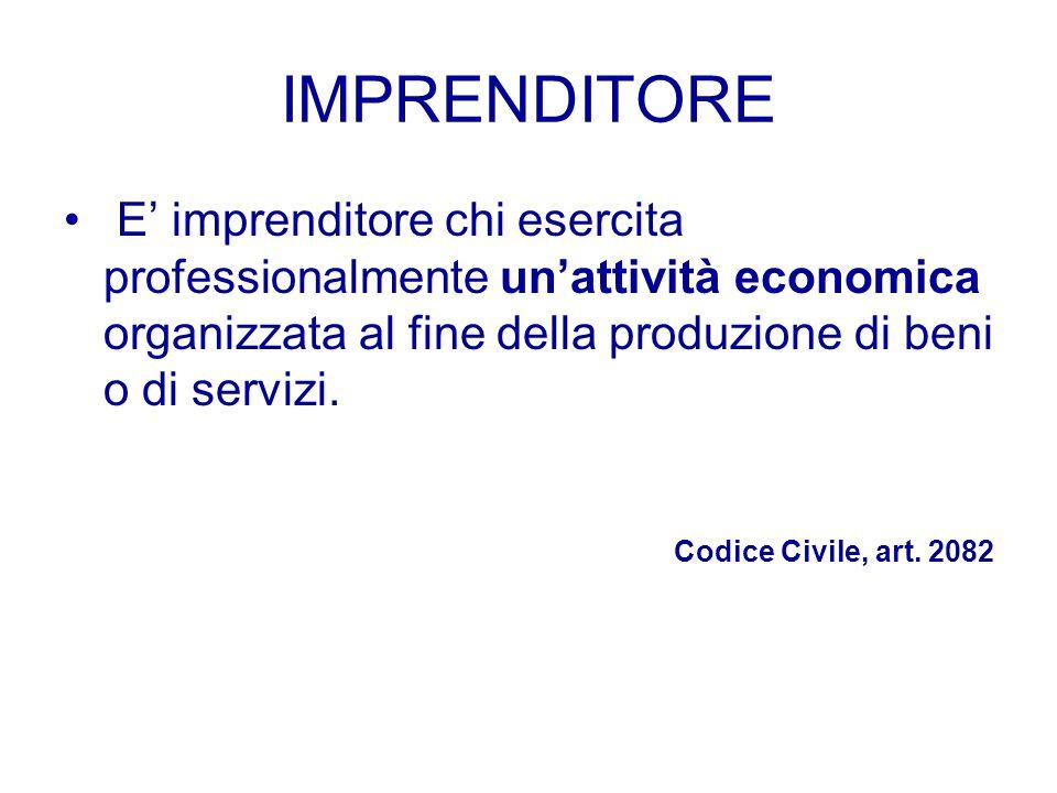 """LE AZIENDE DI PRODUZIONE L'attività economica di produzione di beni e servizi è svolta da unità economiche denominate """"Aziende di produzione"""" o """"Impre"""