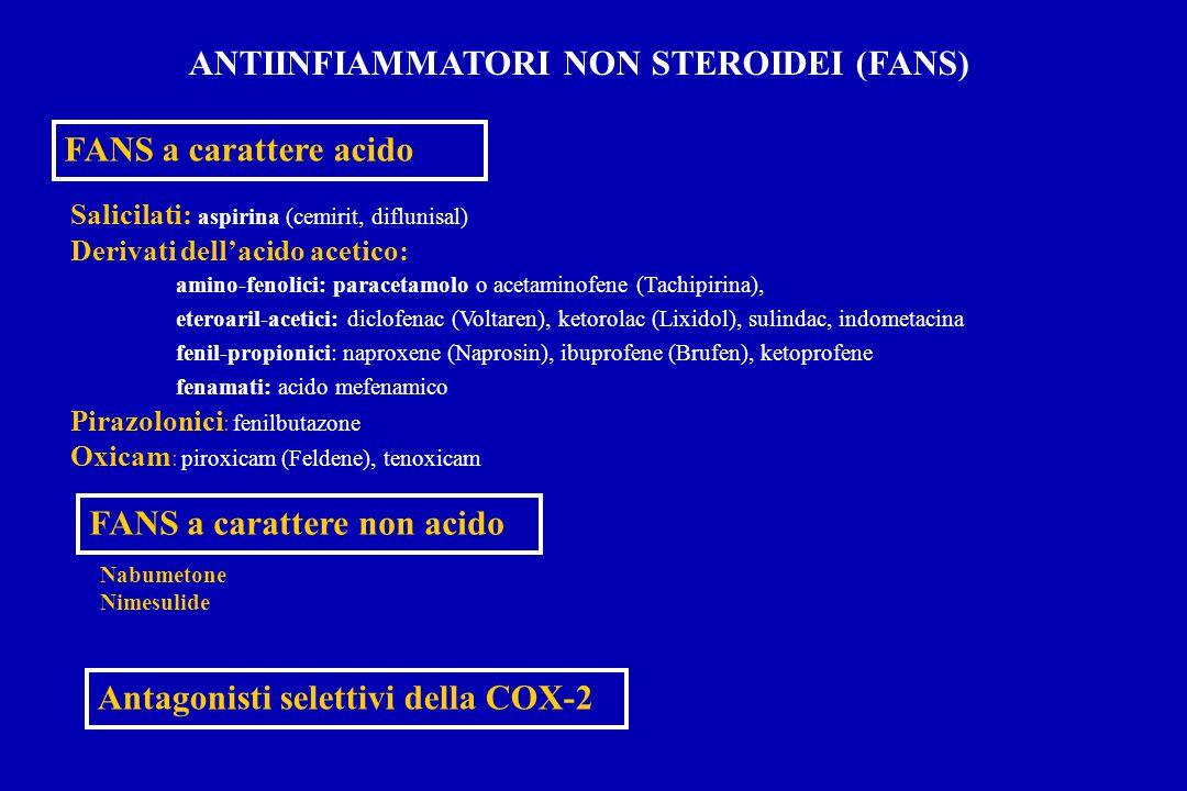 Celecoxib: metabolismo epatico   Idrossilazione del gruppo metilico (idrossi-celecoxib)*   Ossidazione del gruppo idrossilico (acido carbossilico del celecoxib)   Glicuroconiugazione dell'acido carbossilico (1-O-glicuronide del celecoxib) METABOLITI INATTIVI METABOLITI INATTIVI   Pazienti noti o sospetti come lenti metabolizzatori (CYP2C9) dovrebbero assumerne dosi inferiori   Farmaci che interferiscono con CYP2C9 possono modificarne la concentrazione Tang et al., JPET 2000; 293: 453-459.
