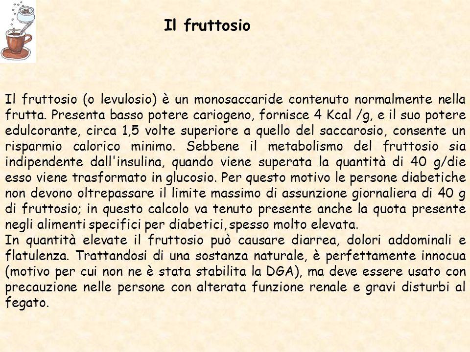 Il fruttosio (o levulosio) è un monosaccaride contenuto normalmente nella frutta.