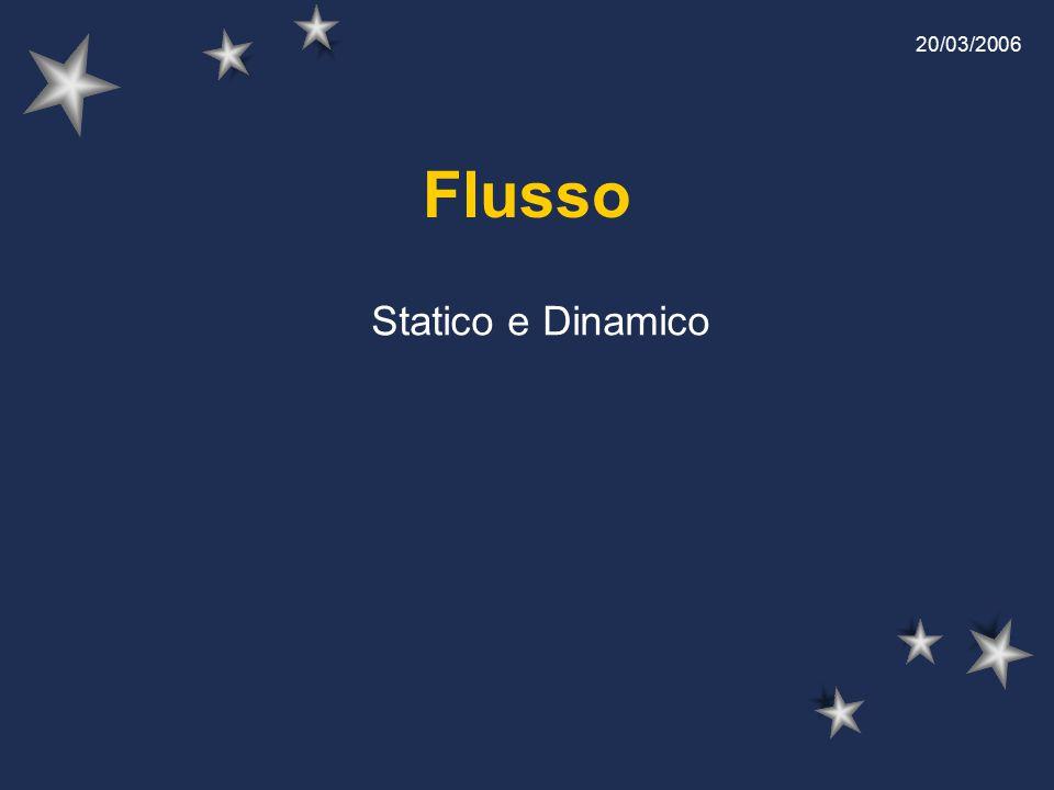 Flusso Statico e Dinamico 20/03/2006