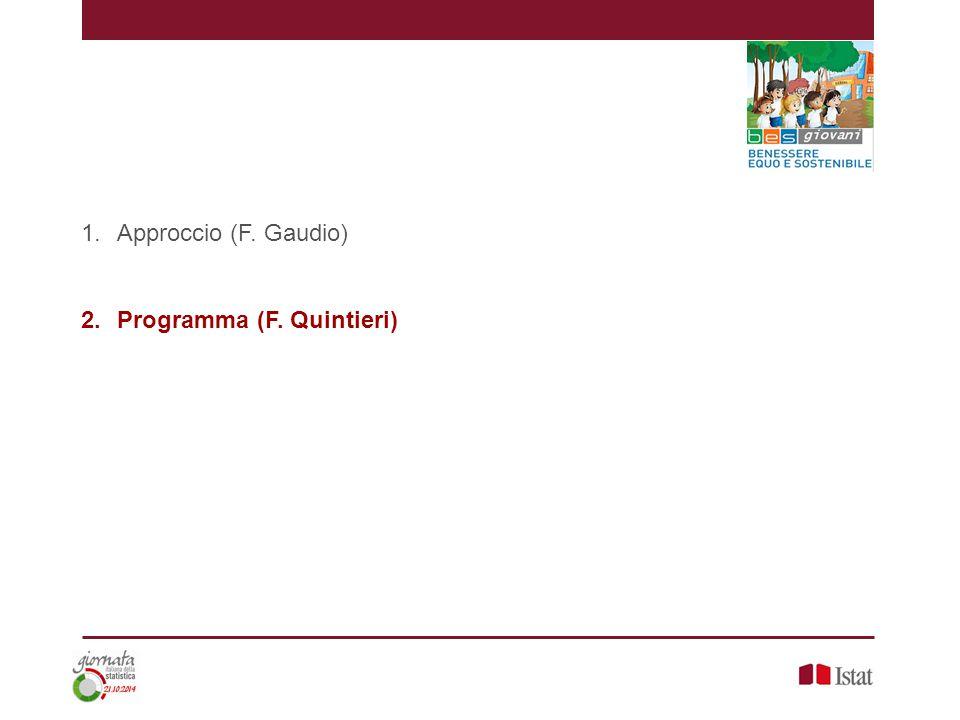 1.Approccio (F. Gaudio) 2.Programma (F. Quintieri)