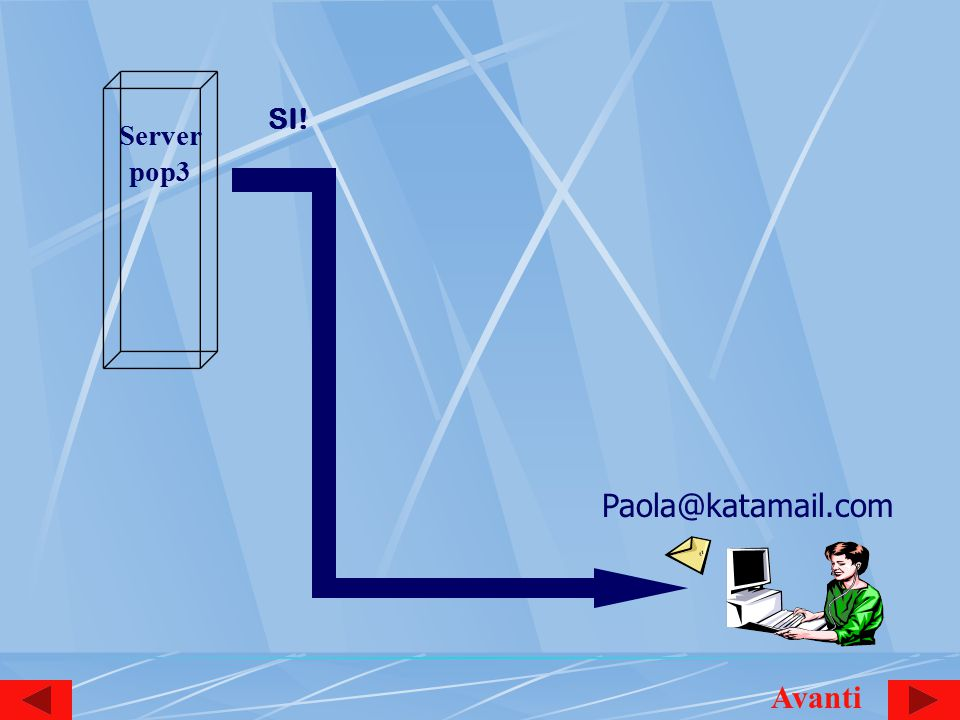 Server pop3 Paola@katamail.com SI! Avanti