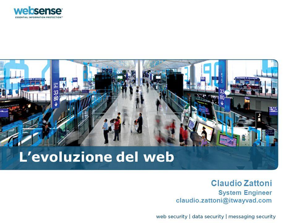 L'evoluzione del web Claudio Zattoni System Engineer claudio.zattoni@itwayvad.com