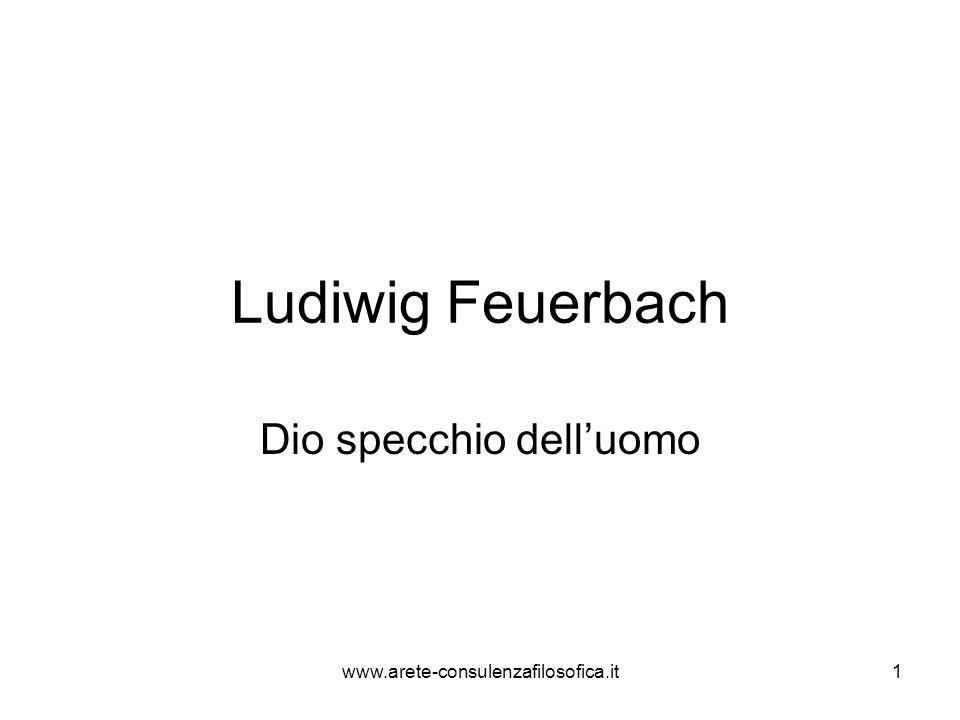 Feuerbach: cenni sulla vita (1804- 1872) Ludwig Feuerbach è esponente di spicco della sinistra hegeliana.