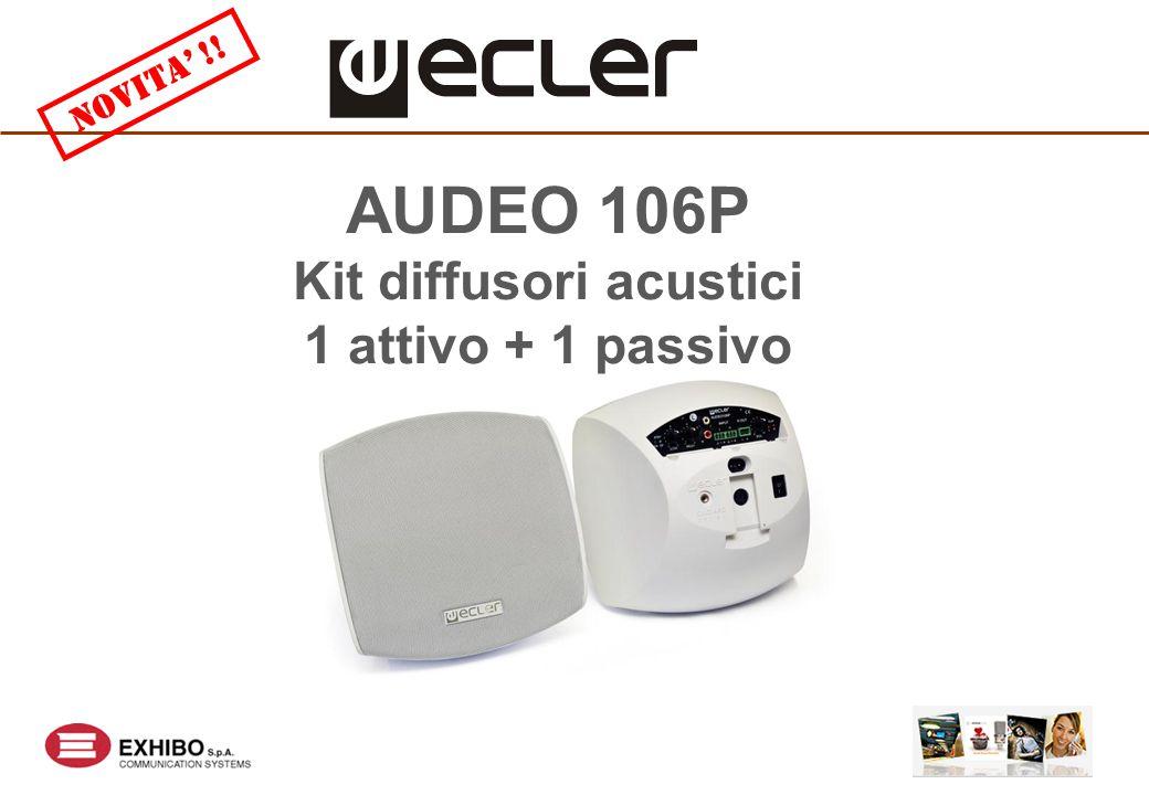 AUDEO 106P Kit diffusori acustici 1 attivo + 1 passivo NOVITA' !!