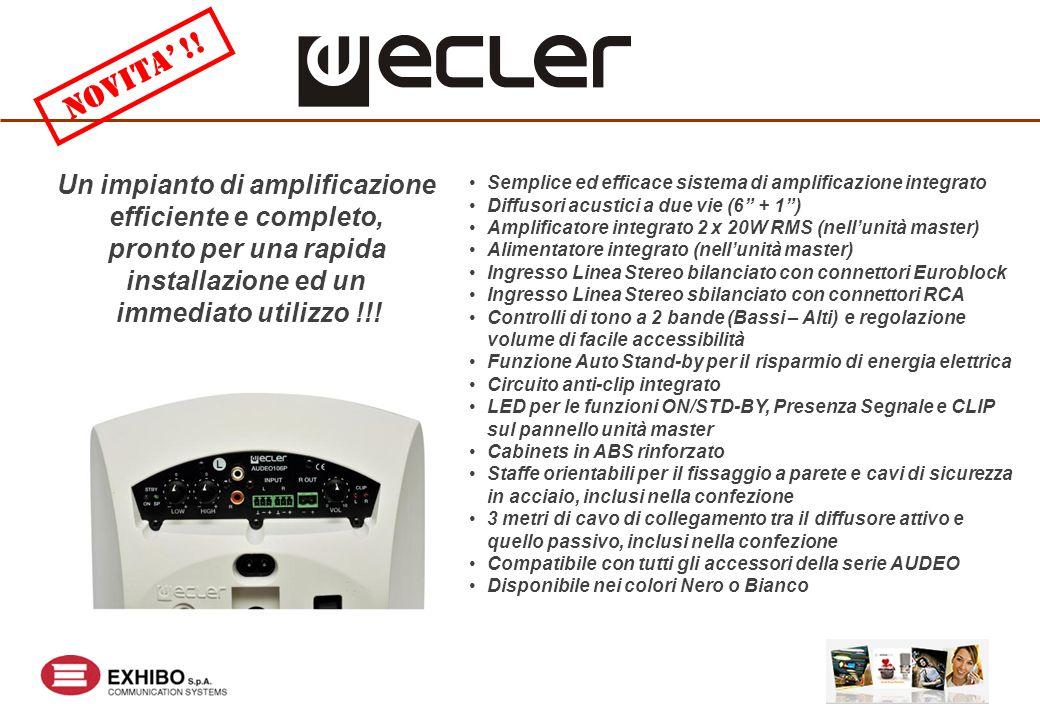 Un impianto di amplificazione efficiente e completo, pronto per una rapida installazione ed un immediato utilizzo !!.