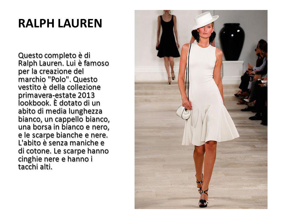 RALPH LAUREN Questo completo è di Ralph Lauren. Lui è famoso per la creazione del marchio