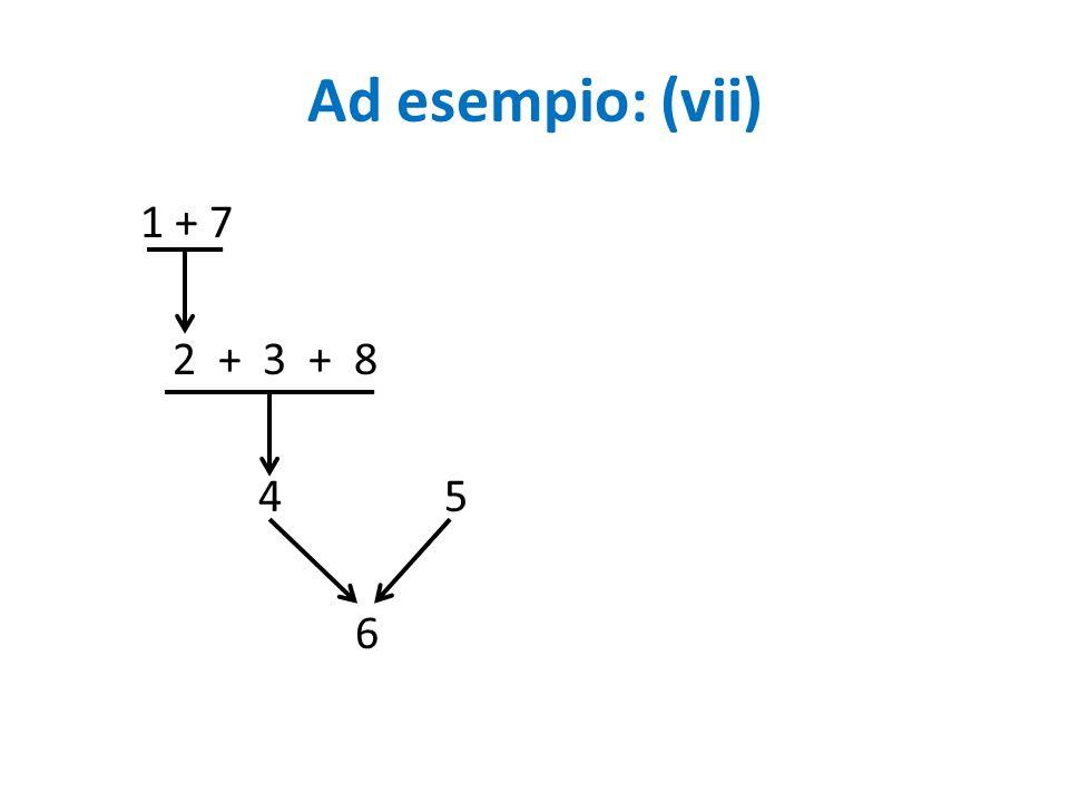 Ad esempio: (vii) 1 + 7 2 + 3 + 8 4 5 6
