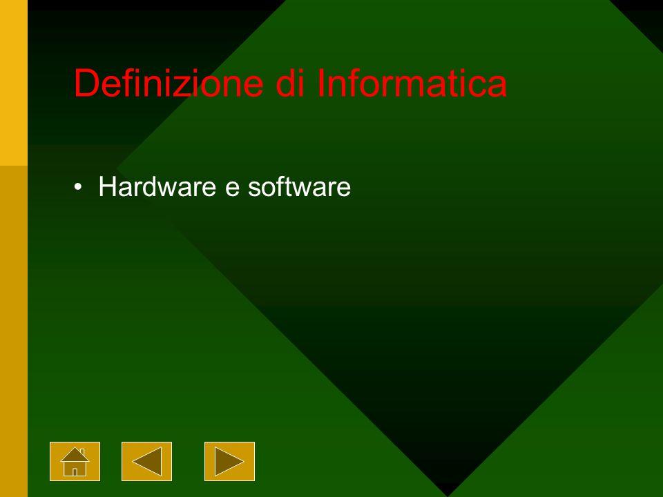 Definizione di Informatica Hardware e software