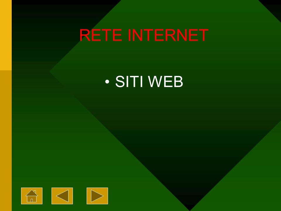 RETE INTERNET SITI WEB