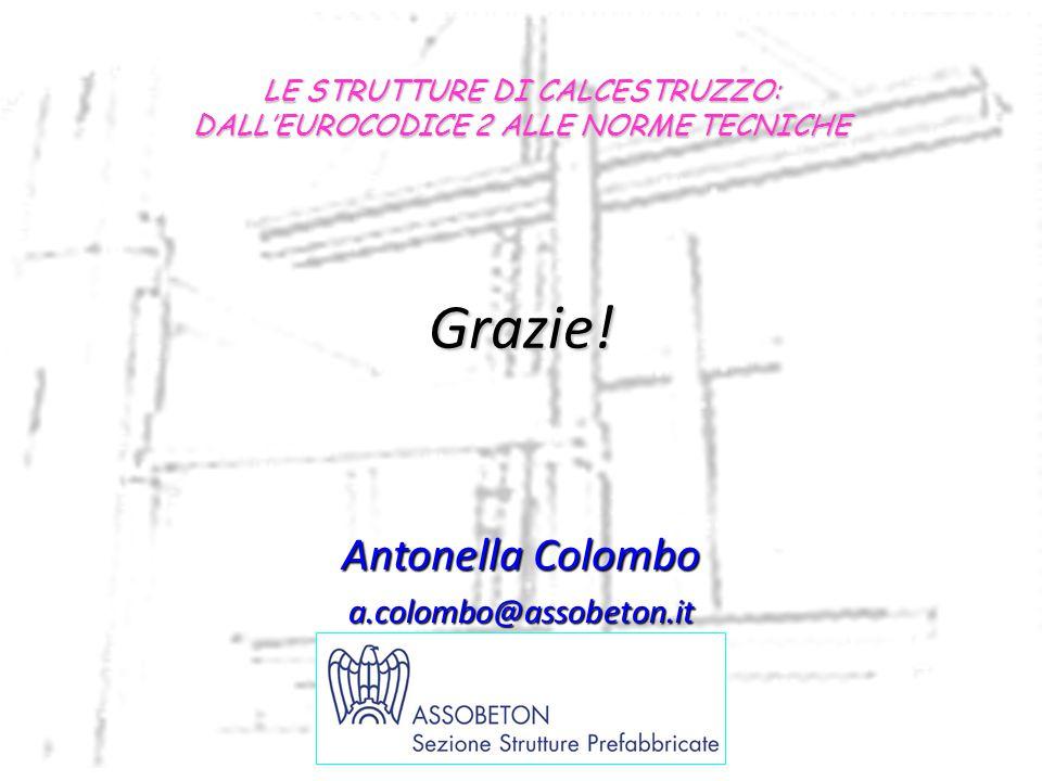 Grazie! LE STRUTTURE DI CALCESTRUZZO: DALL'EUROCODICE 2 ALLE NORME TECNICHE Antonella Colombo a.colombo@assobeton.it