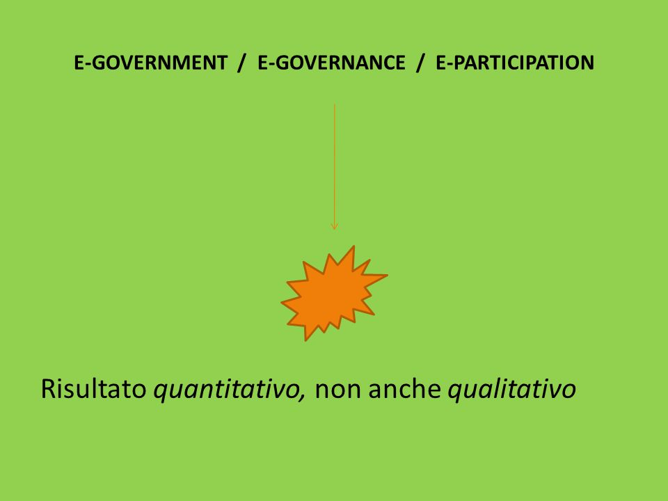 MA ANCHE LE POLITICHE DI E-GOVERNMENT HANNO SOSTANZIALMENTE FALLITO….