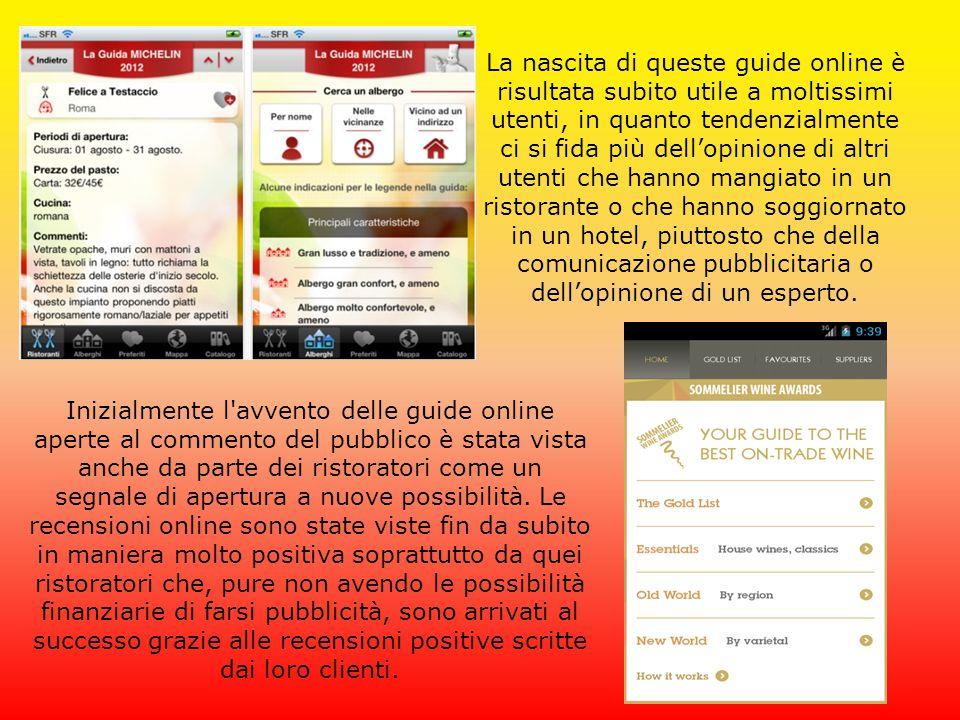 La nascita di queste guide online è risultata subito utile a moltissimi utenti, in quanto tendenzialmente ci si fida più dell'opinione di altri utenti
