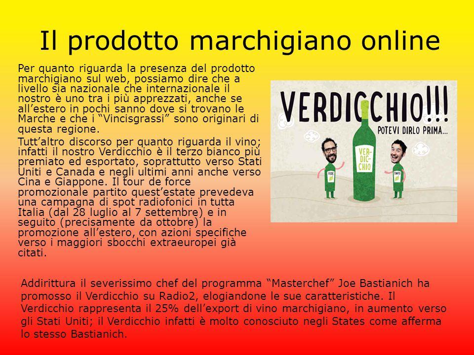 Il prodotto marchigiano online Per quanto riguarda la presenza del prodotto marchigiano sul web, possiamo dire che a livello sia nazionale che interna