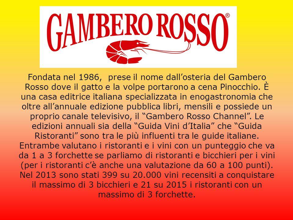 Fondata nel 1986, prese il nome dall'osteria del Gambero Rosso dove il gatto e la volpe portarono a cena Pinocchio.